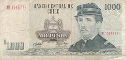 BILLETE DE CHILE DE 1000 PESOS DEL AÑO 2006 (BANK NOTE) - Chile