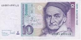 BILLETE DE ALEMANIA DE 10 MARCK DEL AÑO 1993   (BANKNOTE) - [ 7] 1949-… : RFA - Rep. Fed. De Alemania