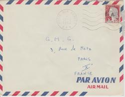 Algérie Lettre De 1962 Avec Affranchissement Marianne Decaris Surchagée EA Oblitération AFN - Algérie (1962-...)