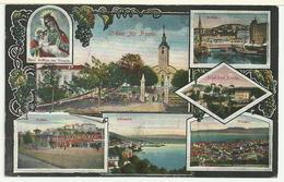 HRVATSKA: Razglednica S Pet Veduta Od Trsat Rijeka Susak Opatija / CROAZIA: Tersatto Fiume Sansego Abbazia - Croatia