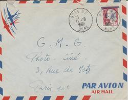 Algérie Lettre De 1962 Avec Affranchissement Marianne Decaris Surchagée EA Oblitération Bone - Algeria (1962-...)