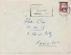 Algérie Lettre De 1962 Avec Affranchissement Marianne Decaris Surchagée EA Oblitération Tizi-Ouzou - Algérie (1962-...)