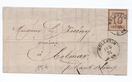 1871 - TIMBRE D'OCCUPATION ALSACE LORRAINE Sur DEVANT De MOLSHEIM (BAS RHIN) - Marcophilie (Lettres)
