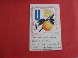 U R A Peach -- Ref 2935 - Postcards