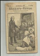 59 .LILLE . SHAKERS REVUE . PUBLICATION PARAISSANT A LILLE . 25 DECEMBRE 1893 . N° 9 . 3° ANNEE .  HABITUDE DES SHAKERS - Health