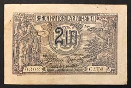 ROMANIA 1915 2 LE1 LOTTO 171 - Romania