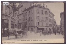 LAUSANNE - PLACE DU FAUCON ET RUE ETRAZ - ATTELAGE - TB - VD Vaud