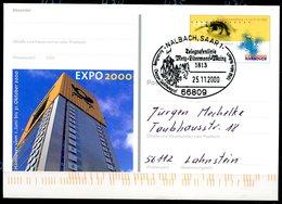 """Germany 2000 GS Mi.Nr.PSo 69 Als Sonderbeleg Telekom Mit SST""""66809 Nalbach,Saar-Telegrafenlinie Metz.........."""" 1GS Used - Telecom"""
