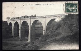 CPA ANCIENNE FRANCE- LUBERSAC (19)- VIADUC DE LA VALÉNIE- PASSAGE DU TRAIN A VAPEUR- GROS PLAN - France