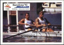 DOMINICA, 1992, BARCELONA, OLYMPICS, ROWING, YV#B.170, SS, MNH - Dominica (1978-...)