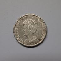 Niederlande 1915 1 Gulden Wilhelmina Silber Ss-vz (M540 - [ 3] 1815-… : Kingdom Of The Netherlands