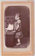 Photografie CDV Bombée  Enfant   Photographe Adrien LOUVOIS   Voir Scans - Personnes Anonymes
