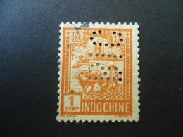INDOCHINE  N° 127  OBLITERE  PERFORE PERFIN BIC - Gebraucht