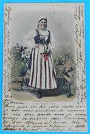HRVATSKE NARODNE NOSNJE ( Croatia ) * Travelled 1901. * Croatian National Costume Folk Folklorique Volkstracht - Croatia