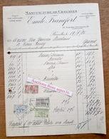 Manuf De Cravates, Emile Francfort, Rue Des Tanneurs, Bruxelles 1926 - 1900 – 1949