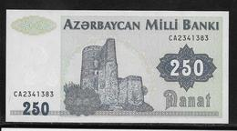 Azerbaïdjan - 250 Manat - Pick N° 13b - NEUF - Azerbeidzjan