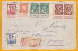 1915 - Lettre Recommandée De Le Havre Spécial - Gouvernement Belge En Exil En France - Vers Nancy - Weltkrieg 1914-18