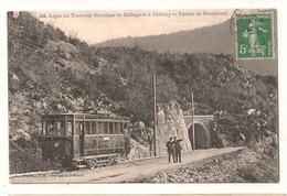 Bellegarde - Chezery - Ligne Electrique   - La Gare  -  Tunnel De Domplomb -  PLAN RARE - CPA° - Bellegarde-sur-Valserine