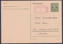 Fürth : P B 02, Notausgabe 1945, Mit Anschrift Versehen - Bizone