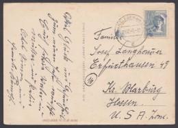"""MiNr. 947, EF Auf Bedarfs-AK """"Hansleben"""", 29.12.47, Marke Violetter L 1 """"9.1.48"""" - Gemeinschaftsausgaben"""
