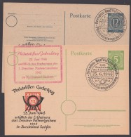 "P 950, 954, Je Zudruck ""Philatelisten-Gedenktag"", Pass. Sst ""Dresden"" - Gemeinschaftsausgaben"