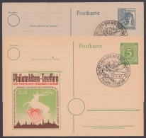 """P 950, 954, Je Zudruck """"Philatelisten-Treffen"""", Pass. Sst """"Dresden"""" - Gemeinschaftsausgaben"""