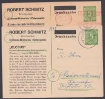 """P 950, 2 Karten, Versch. Zudrucke """"Schmitz, Groß-Bieberau"""", Angebot 16 Und 21 - Gemeinschaftsausgaben"""