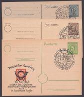 "P 950, 952, 954, Je Zudruck ""Philatelisten-Gedenktag"", Pass. Sst. - Gemeinschaftsausgaben"