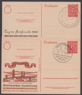 "P 955, Zudruck ""Göttingen"" Und ""Kiel"", 1946/7, Je Pass. Sst. - Gemeinschaftsausgaben"