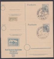 """P 962, 2 Karten, Versch. Zudrucke """"Köln 1947"""", Pass. Sst. - Gemeinschaftsausgaben"""