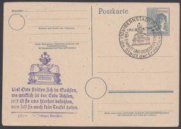 """P 962, Dek. Cachet Und Sst """"Bernstadt/Sachsen"""", 1.5.48 - Gemeinschaftsausgaben"""