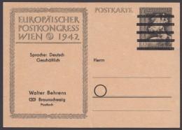 """DR P 294, Zudruck """"Behrens, Braunschweig"""", Senkr. Mittelbug - Bizone"""