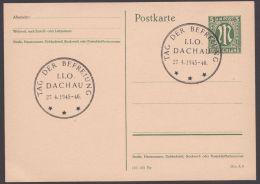 """P 902, Blanko Sst """"Dachau, Tag Der Befreiung"""" - Bizone"""