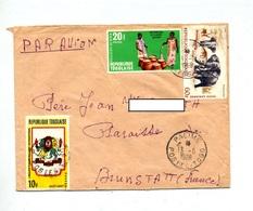 Lettre Cachet Palime Sur Lions Club Elephant Biere - Togo (1960-...)