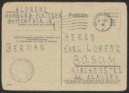 """P 691, Bedarf """"Hamburg"""", 3.9.45, Etwas """"runde"""" Ecken - Bizone"""