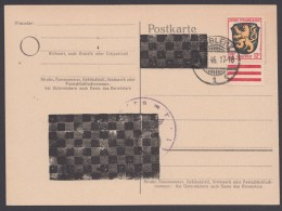 "P 837 A I, Schachbrettüberdruck, Frankiert, Blanko ""Koblenz"", 24.9.46 - Zona Francese"