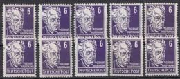 """MiNr. 328 """"Hauptmann"""", 10 Werte, Nach Typen Nicht Durchsucht, ** - DDR"""