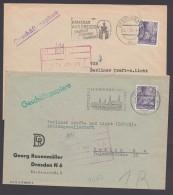 """MiNr. 411, 2x EF Auf """"Geschäftspapiere"""", Dresden, 1958/9 - Briefe U. Dokumente"""