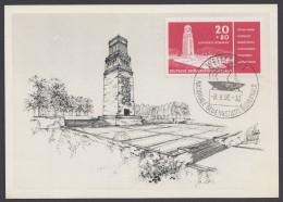 "MiNr. 538, ""Glockenturm Buchenwald, Pass. Maximumkarte Mit ESst. - DDR"