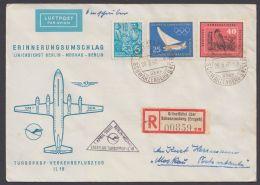 """MiNr. 578, 703, 749, Erstflug IL 18 """"Berlin-Moskau"""", 1.4.60, R-Luftpost Mit Ankunft - DDR"""