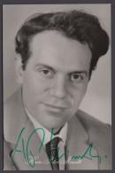 Hans-Peter Minetti, Autogrammkarte Mit Original Unterschrift, 1960 - DDR