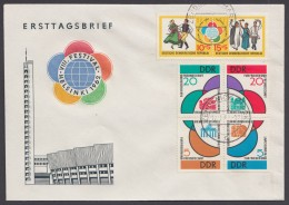 "MiNr. 901/6 ""Weltfestspiele"", 1962, Beide ZD, EOst. - DDR"