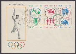 "MiNr. 1039/44 ""Olympiade 1964, 6er Block, übergehender ESst. - DDR"