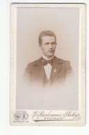 256 ] Photo CDV Format - Portraitfoto ± 1900 Junger Mann Herr Homme Man - Fotograf: G. Bechmann, Kulmbach - Alte (vor 1900)