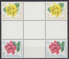 """Hz 15 """"Rosen"""", Herzstück Aus Heftchenbogen, ** - Zusammendrucke"""