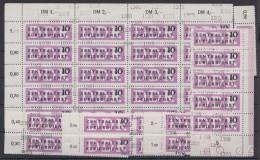 MiNr. 10, 36 Werte Mit Div. Nummern, Viele Einheiten, 1x Auch Leerfeld, ** - Dienstpost