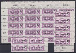 MiNr. 12, 29 Werte Mit Div. Nummern, 4x Auch Leerfeld, ** - Dienstpost