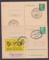 """P 53, 68, 2 Versch. Karten """"Pieck"""", Je Sst. - Postkarten - Gebraucht"""