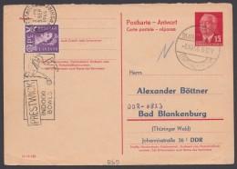 P 65 A, Aus England Retour Mit Zusatzfr., Adresszudruck - DDR