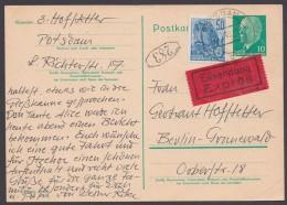P 71, Bedarfs-Eilboten Mit Pass. Zusatzfrankatur - Postkarten - Gebraucht